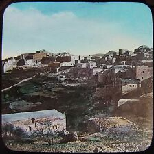 HAND COLOURED Glass Magic Lantern Slide BETHLEHEM C1890 PHOTO ISRAEL