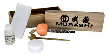 MUSASHI Japanese Samurai Katana Sword Maintenance Cleaning Oil Kit w/ Wooden Box