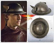 The Flash 2 Jay Garrick Silver Kettle Helmet Cosplay Hat Tinplate Metal Adult