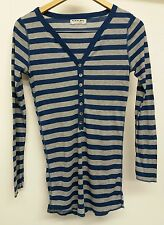 Michael Stans Blue And Grey Long Sleeved Top One Size  J2081