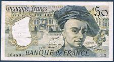 FRANCE - 50 FRANCS QUENTIN DE LA TOUR Fayette n° 67.2 de 1977 en TTB L.5 204508