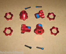 Traxxas Red 17mm 4 Wheel Hub & Nut Adapter 3.3 T-Maxx E- Revo E-Maxx & Summit