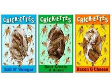 Three (3) Packs of Crickettes Snax by Hotlix Fear Factor FREE SHIP Bacon FLAVOR