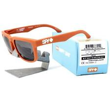 Spy 673015463832 POLARIZED HELM Matte Orange Happy Bronze Blk Mirror Sunglasses