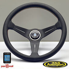 Nardi Steering Wheel DEEP CORN Leather Green White Red stitch 350mm 6069.35.2088