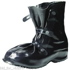 Army NBC Festival Mud BDSM Black Rubber Over Shoe Welly Boots Wellies Large