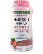 Nature's Bounty Beauty Hair Skin & Nails Biotin Strawberry Flavor 230-Gummy NEW!