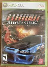 FlatOut: Ultimate Carnage NTSC (Xbox 360, 2007) BRAND NEW. UNBELIEVABLY RARE!