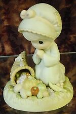 "Precious Moments-#455695 ""Praise God From Whom All Blessings Flow"" -Girl - NEW"