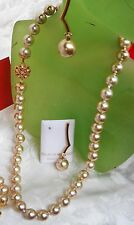 HOLIDAY SALE CHAMPAGNE MAJORCA/MALLORCA PEARL NECKLACE GOLD CLASP faux majorica