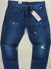 Levi's 511 Slim Straight Leg Jeans Men Size 34 X 34 Vintage Dark Distressed Wash