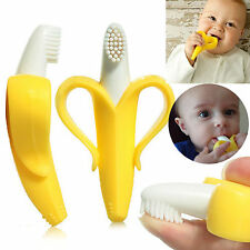 WOW Baby Banana Infants Soft Safe Teether Chewable Bendable Training Toothbrush