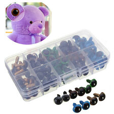 100pc 12mm Mix Color Plastic Safety Eyes For Teddy Bear Doll Animal Puppet Craft