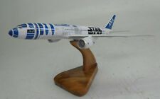 B-787-9 Boeing Dreamliner ANA Star Wars R2-D2 Airplane Wood Model Small New