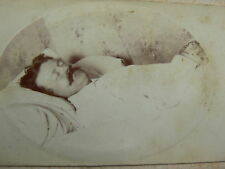 1885 French Post Mortem CDV Photograph - Man Dressed All in White