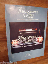 Spartito musicale THE HILL STREET BLUES THEME mtm enterprise 1980 MIKE POST usa
