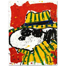 TOM EVERHART signed SNOOPY HAT MAKES DUDE ORIGINAL Litho Charles Schulz Peanuts