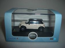 Oxford 76NMN002 NMN002 1/76 OO SCale New BMW Mini Pepper White Black Roof
