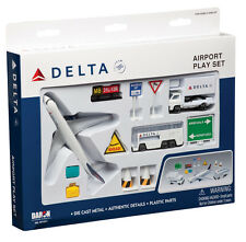 Daron Delta Airlines Airport Play Set Die Cast Metal 12 Pieces Mint Box