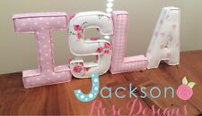 Fabric Letters Wall Art Handmade Nursery name, personalised, girl, boy