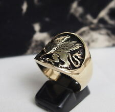 GRIFFIN GRIFFON LION EAGLE RING Wealth Amulet  Egypt Persia Greece DIVINE POWER