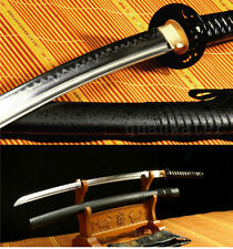 41'DAMASCUS FOLDED STEEL CLAY TEMPERED IRON TSUBA JAPANESE SAMURAI SWORD KATANA