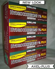 Kirkland-Hydrocortisone 1% Anti-Itch-Rash Relief Cream With Aloe,2-oz (4 Tubes)