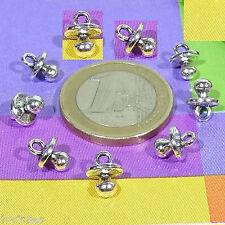 60 Anhänger Schnuller 8mm T66X Silber Tibetische Charme Reize קסמים  Schnuller