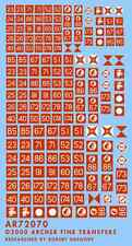 Archer AR72070 1/72 Dry Transfers of WWII British Formation Signs+AoS Flash