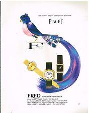 Publicité Advertising 1977 Les Montres Piaget