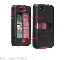 Case-Mate Tank Rugged Case W/ Holster Clip For Apple Iphone 4/4S 4G Pink Black