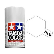 Tamiya TS-26 TS26 Colore spray Tamiya Pure White 100ml per plastica