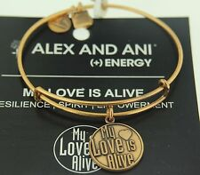 Alex and Ani My Love Is Alive Russian Gold Expandable Energy Bracelet