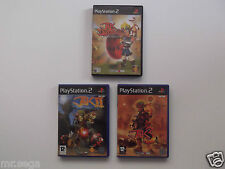JAK AND DAXTER 1, JAK AND DAXTER 2 & JAK AND DAXTER 3 for PLAYSTATION 2 'RARE'