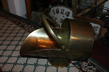 Vintage Brass Metal Coal Scuttle Bucket Scoop-Large-Nautical Decor Coal Scoop