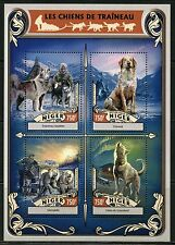 NIGER 2016 SLED DOGS SHEET  MINT NH