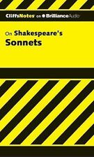 Cliffs Notes: Shakespeare's Sonnets 0 by James K. Lowers (2012, CD, Unabridged)