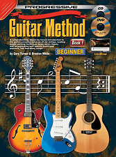 PROGRESSIVE GUITAR METHOD BOOK 1  EASY LEARN HOW TO PLAY MUSIC BOOK, DVD & CD