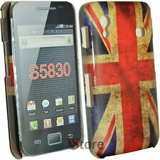 Cover Per Samsung Galaxy Ace S5830 Bandiera Inglese UK Retro + Pellicola LCD