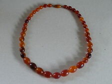 VINTAGE GRADUATED AMBER BEAD NECKLACE 32g