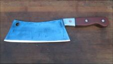 Lg. Antique Italian Chef/Butcher Bolstered Carbon Steel Meat Cleaver RAZOR SHARP