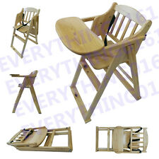 NEW Solid Wooden High Chair Toddler Child's Table Feeding Kids High Chair HOME