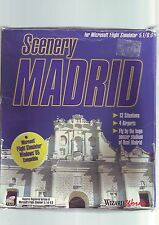 SCENERY MADRID FOR MICROSOFT FLIGHT SIMULATOR 5.1 / 6.0 - BIG BOX PC GAME ADD-ON