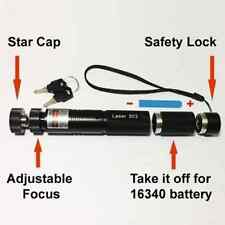 1xPowerful 303 Green Laser Pointer Pen Adjustable Focus 532nm Lazer Visible Beam