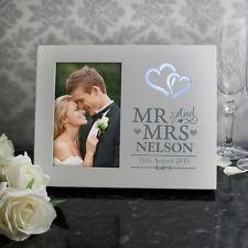 El Sr. & sra. Personalizadas Luz Marco De Fotos-regalo de boda y aniversario