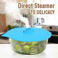 1Pcs Set Steam Ship Steaming Lid Steamship Pot Hot Cover Kitchen Cook Silicone