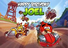 PERSONALISED ANGRY BIRDS GO BIRTHDAY CARD