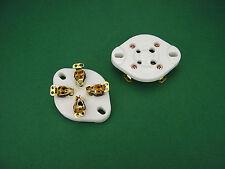 4 x UX4 Gold Röhrenfassung Keramik neu für 300B 2A3 45 Röhrenverszärker tube amp