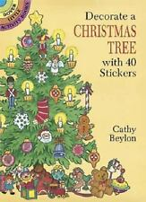 DECORATE A CHRISTMAS TREE WITH 40 STICKERS - NEW PAPERBACK BOOK