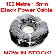 100 Metre Roll Black 1.5mm 3 Core Flex Mains Power Cable Lead 100M 15 Amp PVC